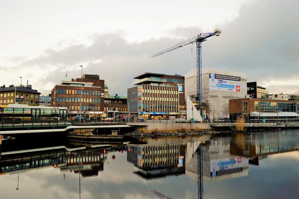 Bild över Jönköping centrum.